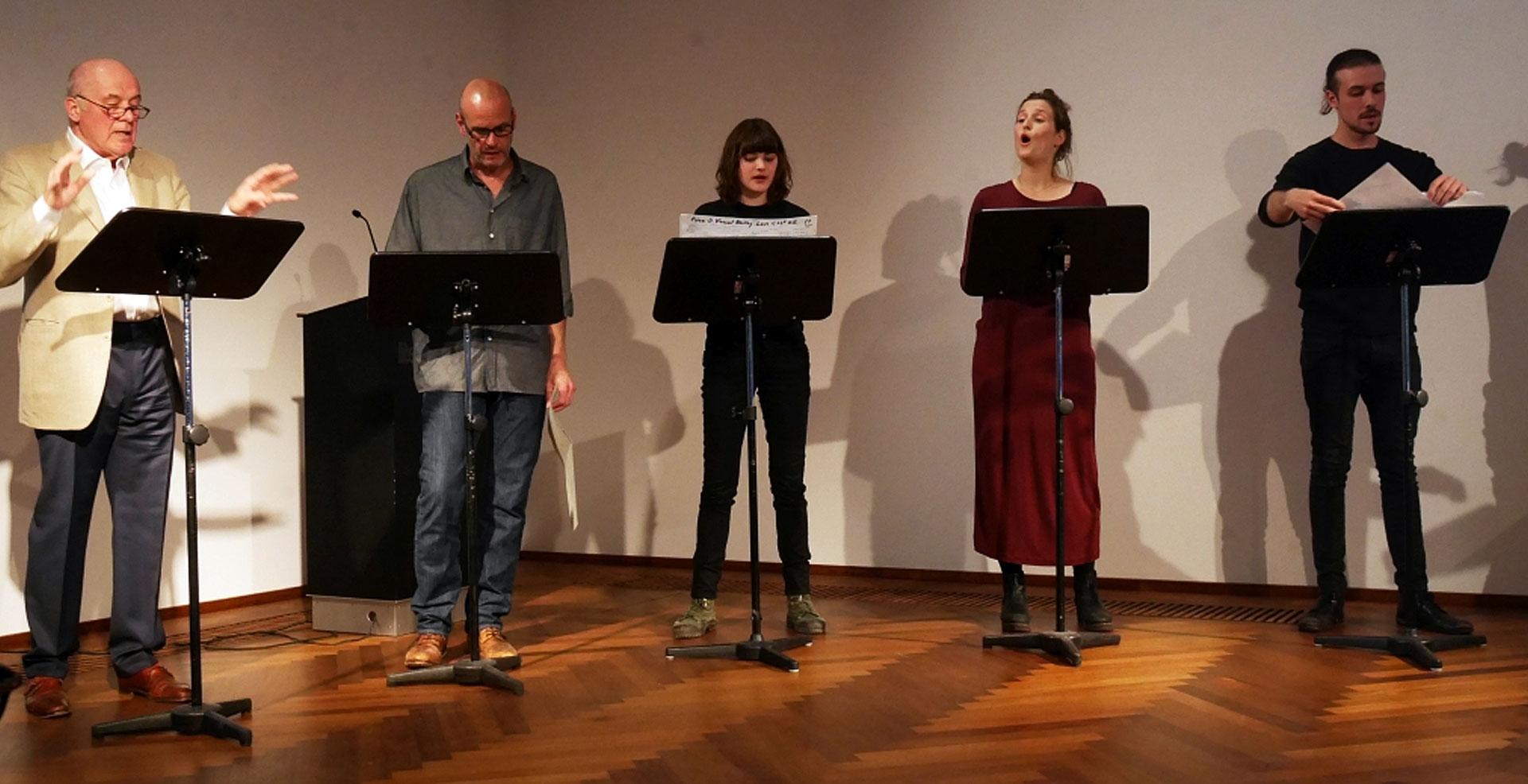 """Hanns Zischler, Quintett des """"Dichtungsrings"""": Frühlingsfest im Literaturhaus <br/>(c) Heiner Wittmann"""