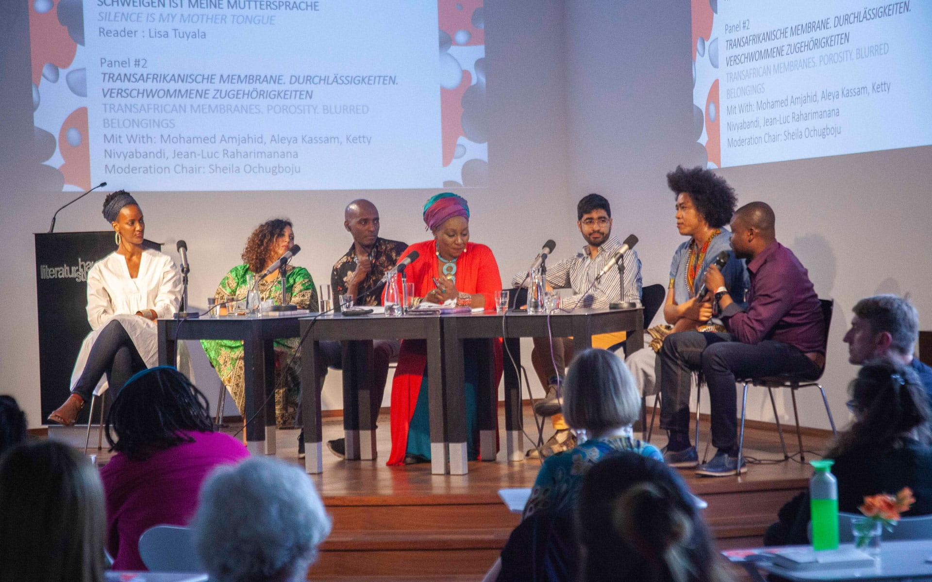 Mohamed Amjahid, Aleya Kassam, Ketty Nivyabandi, Jean-Luc Raharimanana: Panel #2 Transafrikanische Membrane. Durchlässigkeiten. Verschwommene Zugehörigkeiten,                                                               Freitag, 24.05.19               /                   17.15              Uhr                               <br/>(c) Lemia Bodden