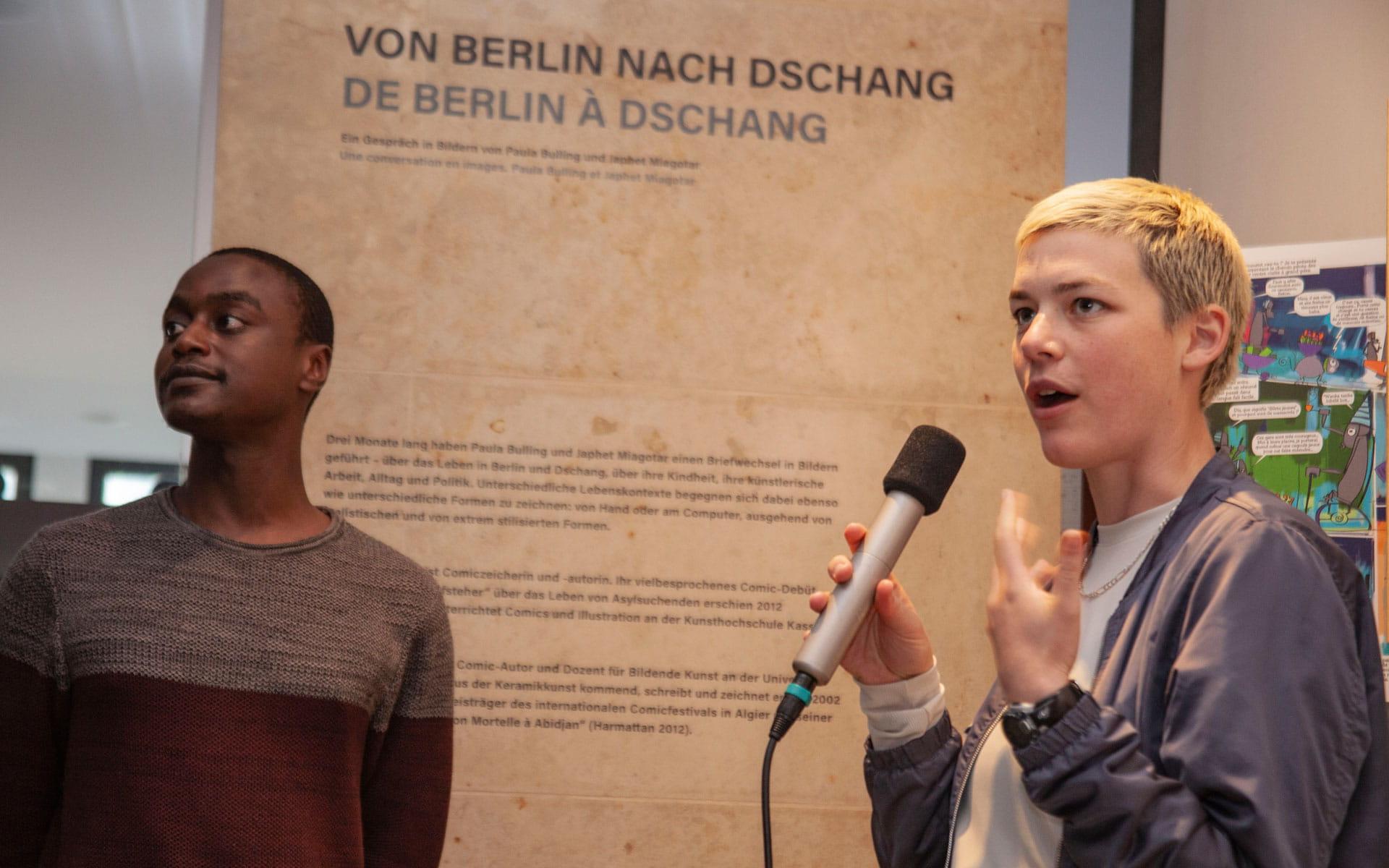 Paula Bulling, Japhet Miagotar: Von Berlin nach Dschang: ein Gespräch in Bildern <br/>(c) Lemia Bodden