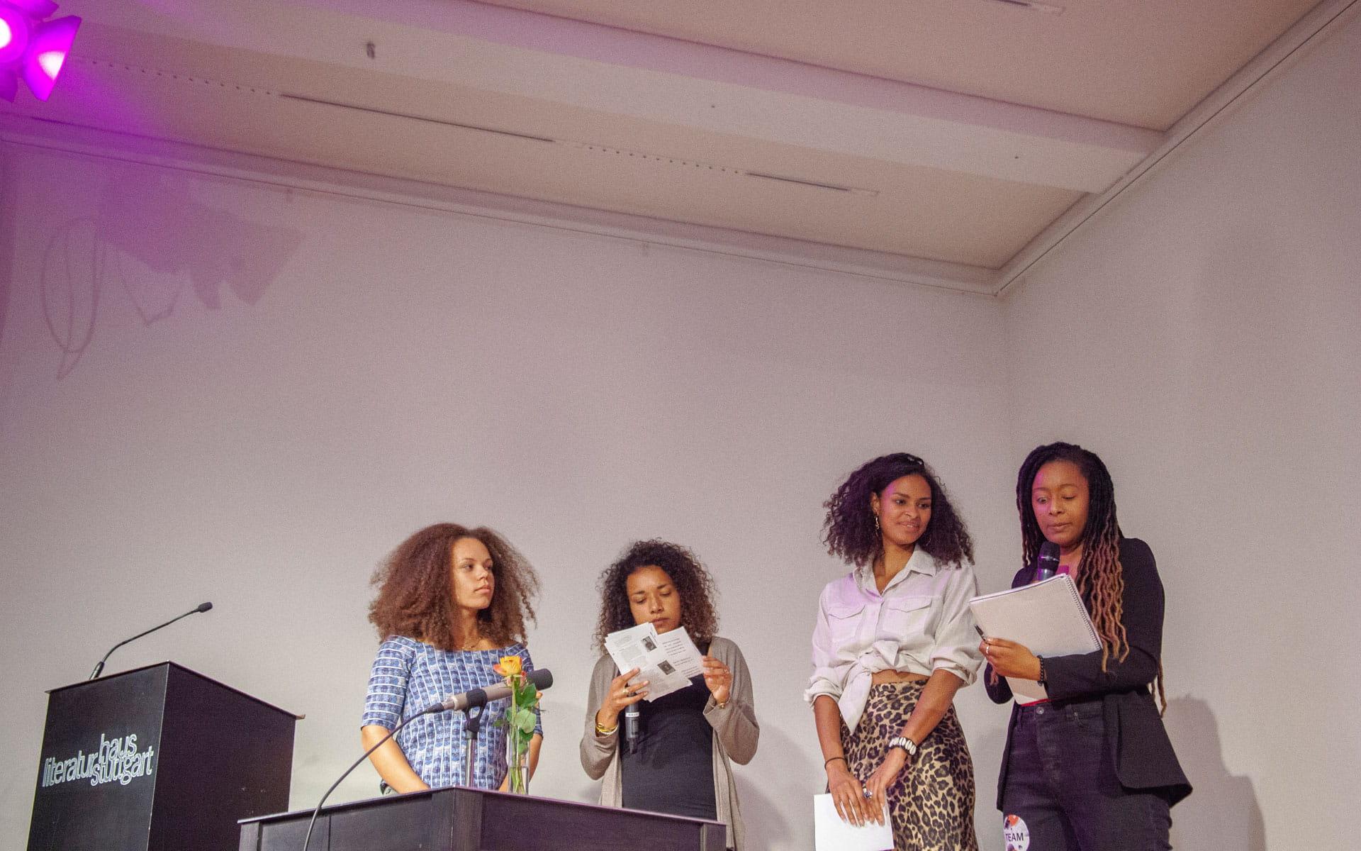 Aleya Kassam, Ketty Nivyabandi, Jean-Luc Raharimanana, Anja Saleh: Slam Revue and Open Mic <br/>(c) Lemia Bodden