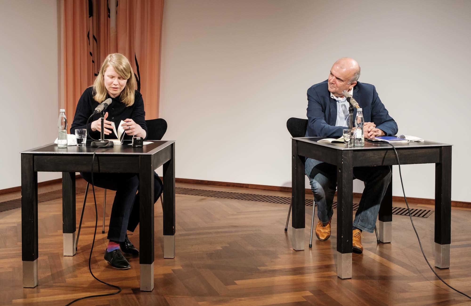 Henning Ziebritzki, Nadja Küchenmeister, Eva Christina Zeller, Marcel Beyer: Stuttgarter Lyriknacht 2020 <br/>(c) Sebastian Wenzel