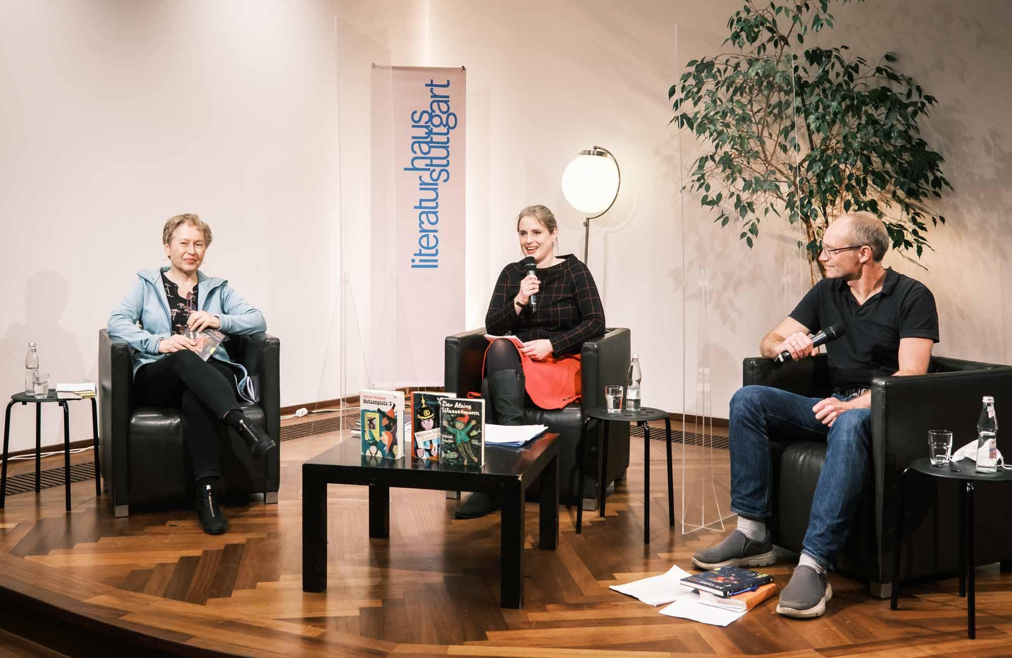 Ulrike Draesner, John von Düffel: Otfried Preußler <br/>(c) Sebastian Wenzel