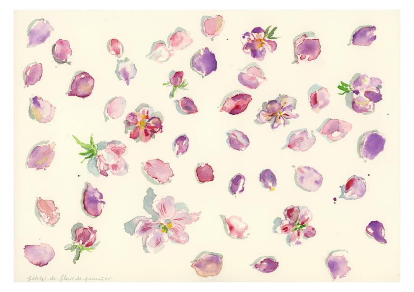 Kirsch- und Apfelblüten (April 2020), Aquarell 30 x 40 cm 95