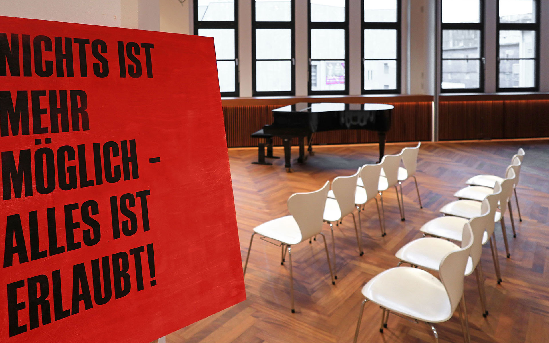 Dieter M. Gräf, Ulf Stolterfoht, Frank Witzel: Falsches Rot, Mittwoch, 24.10.18                      -                          Donnerstag, 31.01.19 <br/>(c) Literaturhaus Stuttgart
