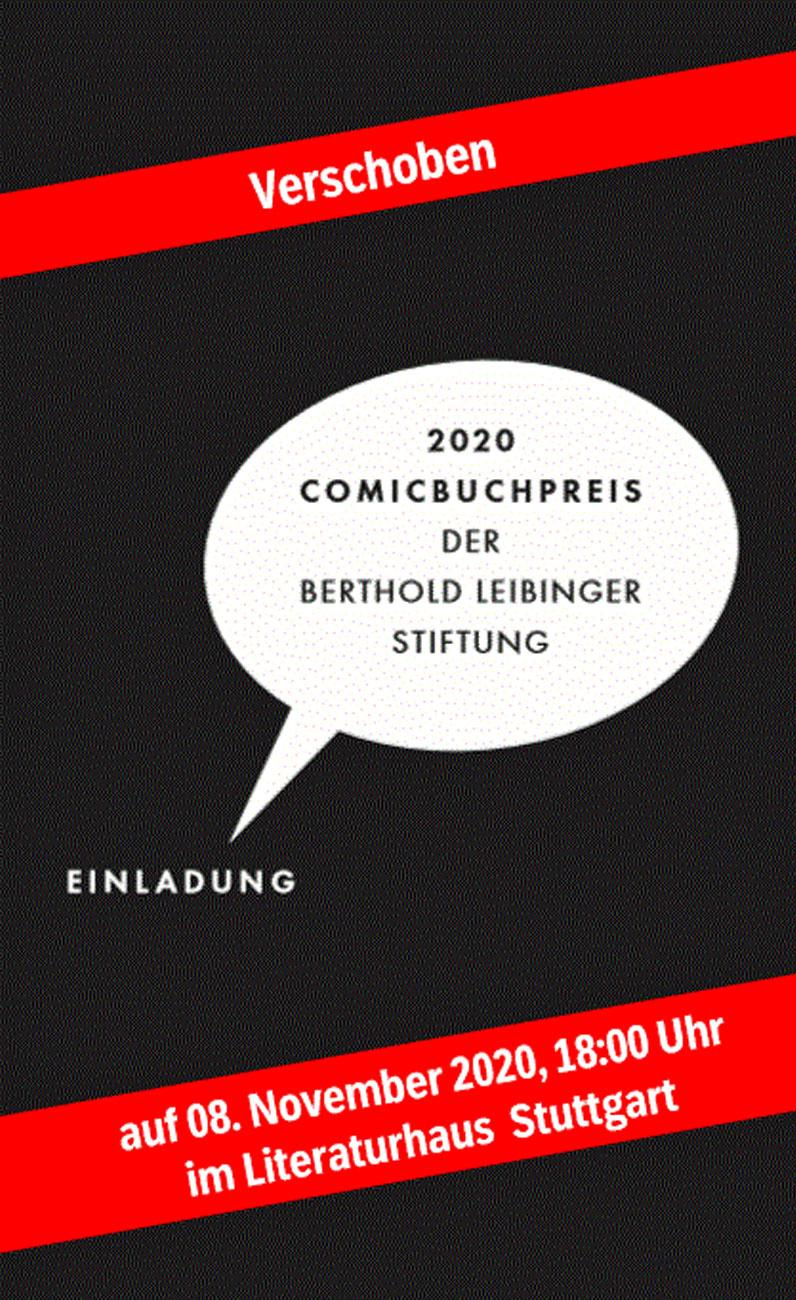 Comicbuchpreis 2020 der Berthold Leibinger Stiftung