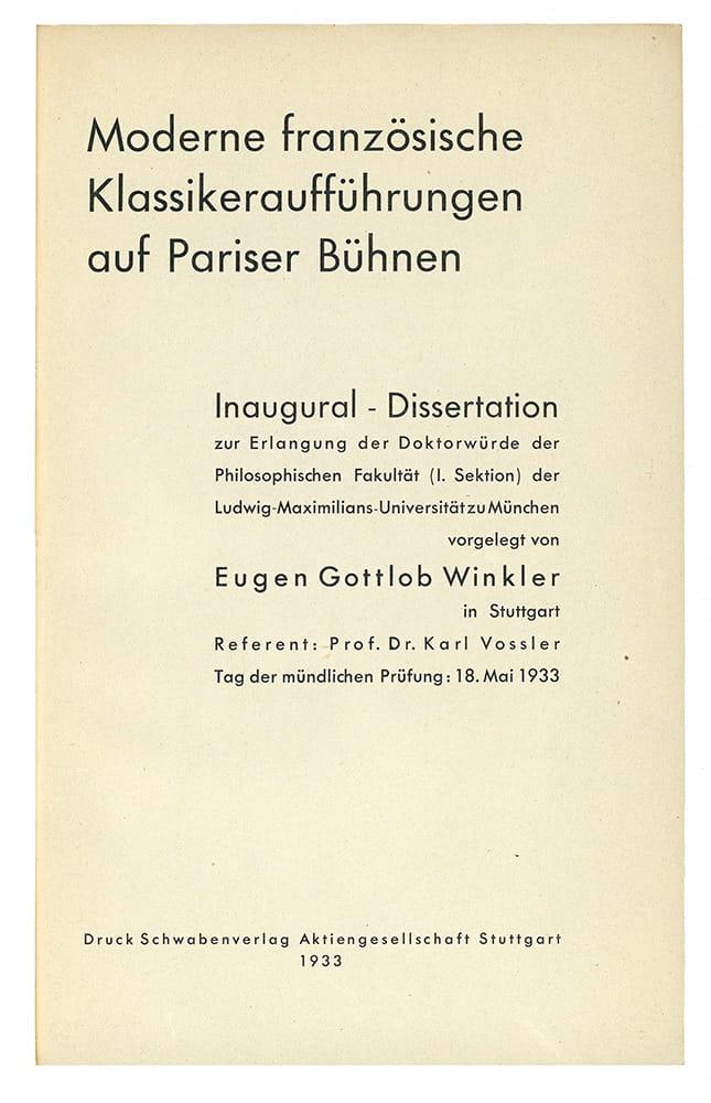 Eugen Gottlob Winkler