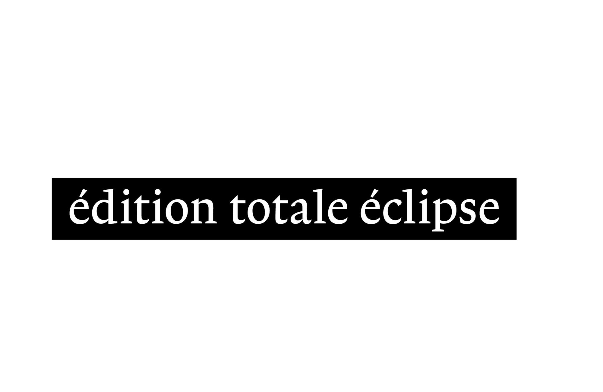 Logo Édition totale eclipse (Stuttgart / Paris)