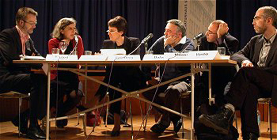 György Dalos, Barbara Honigmann, Marcel Möring, Emmanuel Moses, Vladimir Vertlib: Jüdisches Schreiben in Europa, Donnerstag, 13.03.03               /                   20.00              Uhr <br/>(c) Heiner Wittmann