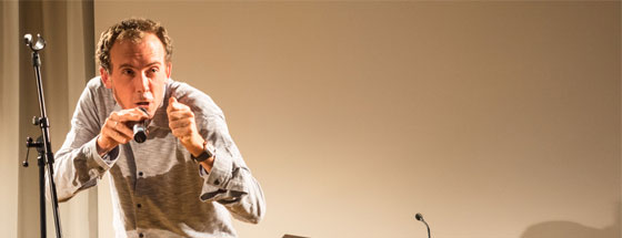 Thomas Rosenlöcher, Carolin Callies, Jörg Piringer, Friedrich W. Block, Timo Brunke, Rike Scheffler: Stuttgarter Lyriknacht 2015, Freitag, 11.09.15               /                   19.00              Uhr <br/>(c) Sebastian Wenzel