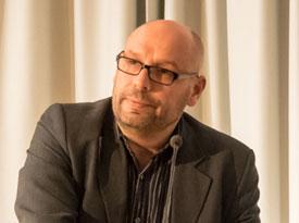 """Jens Kloppmann, Wolfgang Michalek, Philipp Singer: Angehaltene Gegenwart // Ausstellung """"Wolfgang Herrndorf: Bilder"""" <br/>(c) Sebastian Wenzel"""