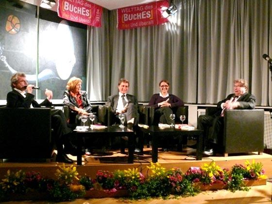 Nina Blazon, Susanne Offenbach, Matthias Kleinert, Philipp Haußmann: Mein Buch Nr. 1, Donnerstag, 23.04.09               /                   19.30              Uhr <br/>(c) Heiner Wittmann