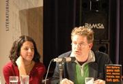 Wolfgang Schorlau, Carsten Otte, Dilek Güngör, Thorsten Becker, Esmahan Aykol, Murathan Mungan: Deutsch-türkische Literaturnacht 2004 <br/>(c) Tilmann Eberhardt