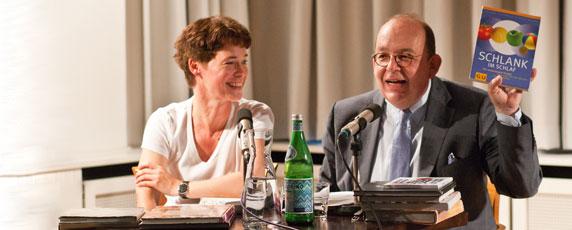 Eva Gritzmann, Denis Scheck: Sie & Er - der kleine Unterschied beim Essen,                                                               Mittwoch, 29.06.11               /                   20.00              Uhr                               <br/>(c) Sebastian Becker