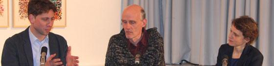 Johanna Bohley, Lutz Dittrich, Dietrich Heißenbüttel, Michael Klett: Helmut Heißenbüttel: Literatur für alle <br/>(c) Heiner Wittmann