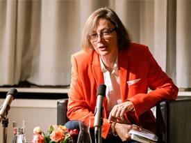 Kathrin Röggla, Thomas Macho: Normalverdiener und Größenwahn <br/>(c) Sebastian Wenzel