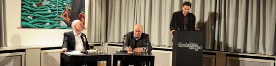 Dieter Richter, Hanns Zischler: Jean Paul – eine Reise-Biographie, Donnerstag, 21.02.13               /                   20.00              Uhr <br/>(c) Kristina Popov