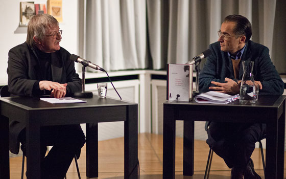 Joachim Kalka, Aris Fioretos: Katze, Regen, Totenreich, Donnerstag, 16.02.12               /                   20.00              Uhr <br/>(c) Sebastian Becker