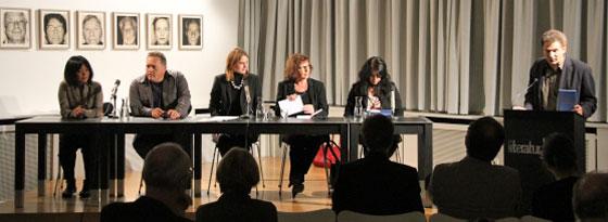 Zsuzsanna Gahse, Yoko Tawada, Thomas Meinecke, Theresia Walser: Zum Kuckuck - Literarische Umrisse eines Landes, Donnerstag, 27.09.12               /                   20.00              Uhr <br/>(c) Heiner Wittmann