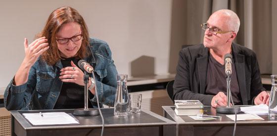 Kathrin Röggla, Andrea Bartl: Literatur und Zweifel <br/>(c) Yves Noir, Sebastian Wenzel