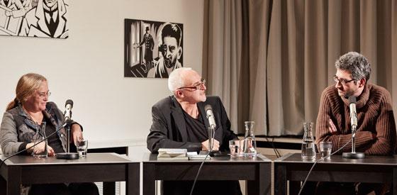 Nicolas Mahler, Monika Schmitz-Emans: Literatur und Zeitgeist – Wohin schreibt die Wirklichkeit? <br/>(c) Yves Noir