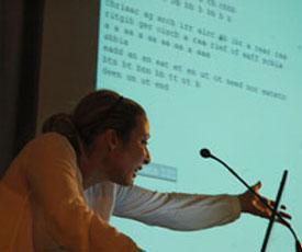Jörg Piringer, Johannes Auer, Beat Suter, René Bauer: Programmierung - Computer- und netzbasierte Lautpoesie, Mittwoch, 23.05.12               /                   20.00              Uhr <br/>(c) Heiner Wittmann, Georg Linsenmann