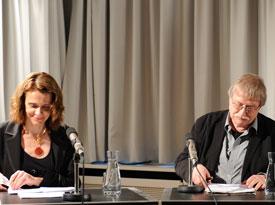 Beatrice Longuenesse, Rolf-Peter Horstmann: Über die Moral bei Kant und Freud <br/>(c) Kristina Popov