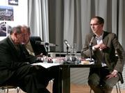 Bernard Stiegler, Werner Hamacher: Die Logik der Sorge. Verlust der Aufklährung durch Technik und Medien. <br/>(c) Heiner Wittmann
