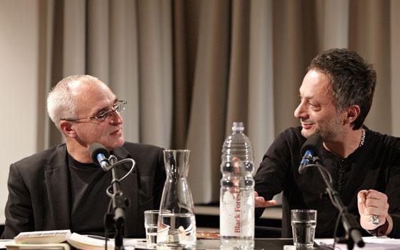 Feridun Zaimoglu, Jürgen Trabant: Literatur und Sprache, Freitag, 09.12.11               /                   20.00              Uhr <br/>(c) Yves Noir