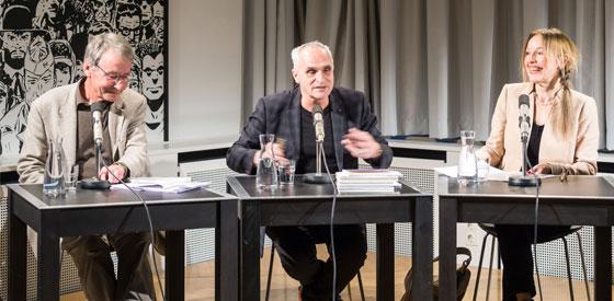 Angela Krauß, Thomas Anz: Literatur und Gefühle, Freitag, 15.04.16               /                   20.00              Uhr <br/>(c) Sebastian Wenzel