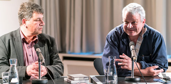Ulf Stolterfoht, Marcel Beyer: Preis der Literaturhäuser <br/>(c) Wenzel