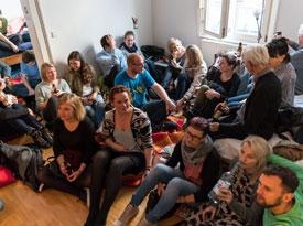 Carolin Callies, Stephan Reich: Zwei Jahre zwischen/miete. Junge Literatur in Stuttgarter WGs <br/>(c) Sebastian Wenzel