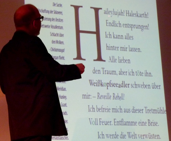 Mark Z. Danielewski: Only revolutions <br/>(c) Heiner Wittmann