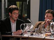 Ermanno Cavazzoni, Hans Christoph Buch, Hélène Lenoir: Sind Schriftsteller nützlich? <br/>(c) Heiner Wittmann