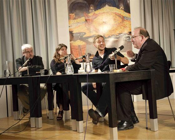 Denis Scheck, Tom Wlaschiha, Catherine Beck, Werner Fuchs: Das Lied von Eis & Feuer,                                                             Samstag, 07.07.12               /                   20.00              Uhr                               <br/>(c) Ronny Schönebaum