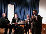 Wilhelm Genazino, Martin Schalhorn, Frank Druffner: Dichterbilder - Lesers Romane? <br/>(c) Heiner Wittmann