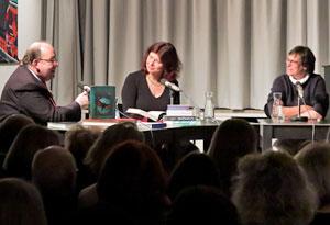 Claudia Ott, Denis Scheck, Julia Schröder: Grimms Erben <br/>(c) Sebastian Becker
