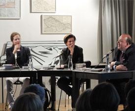 Sandra Richter, Denis Scheck, Carolin Emcke: Ich, Ich, Ich! <br/>(c) Sebastian Becker