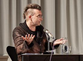 Michael Stavaric, Hanspeter Ortner: Literatur und Schreibstrategien <br/>(c) Yves Noir