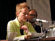 Peter O. Chotjewitz, Ulrike Draesner, Sandra Hoffmann, Wolfgang Schömel: REACT <br/>(c) Heiner Wittmann