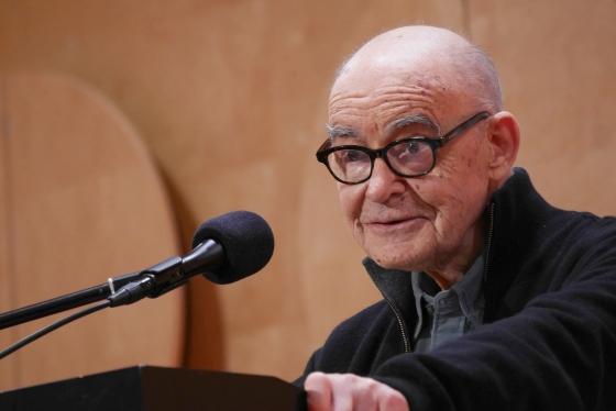 Jean-Luc Nancy, Winfried Kretschmann: Auf der Suche nach einer Kultur des Friedens. <br/>(c) Heiner Wittmann
