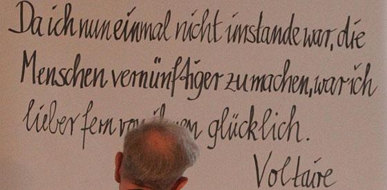 """Claus Peymann: Thomas Bernhard """"Holzfällen. Eine Erregung"""" <br/>(c) Heiner Wittmann"""