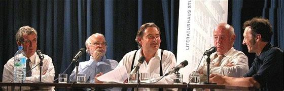 Wieland Schmied, Michael Naumann, Hans-Jürgen Müller, Thomas Raschke: Kunst – Antikunst: die Historisierung des Ärgers, Freitag, 27.06.03               /                   19.00              Uhr <br/>(c) Heiner Wittmann