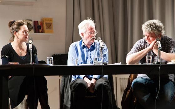 Ulf Stolterfoht, Urs Allemann, Monika Rinck, Barbara Köhler: Poesie und Politik <br/>(c) Sebastian Becker