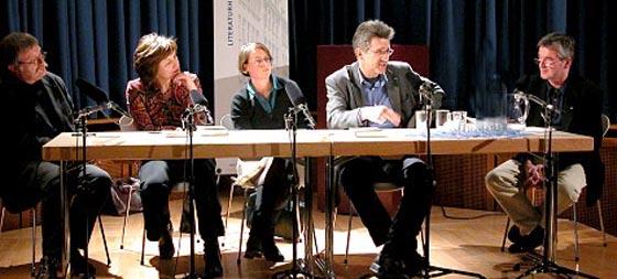 Helmut Böttiger, Joachim Kalka, Ursula März, Julia Schröder: Damals - Reinhard Baumgart <br/>(c) Heiner Wittmann