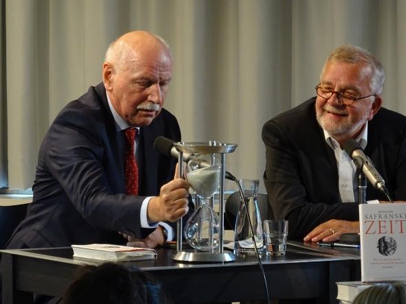 Rüdiger Safranski: Zeit. Was sie mit uns macht und was wir aus ihr machen, Sonntag, 27.09.15               /                   11.00              Uhr <br/>(c) Heiner Wittmann