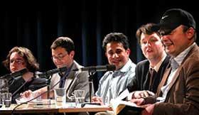 Mohammed Aref, Catalin Dorian Florescu, Richard Duraj: Mehrstimmig, Mittwoch, 23.04.03               /                   20.00              Uhr <br/>(c) Heiner Wittmann