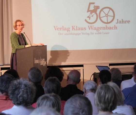 Susanne Schüssler, Klaus Wagenbach: 50 Jahre Wagenbach Verlag <br/>(c) Heiner Wittmann