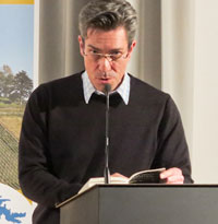 Andrea Hahn, Thomas Hoeth, Titus Häussermann: Dem Himmel verfallen – Poesie im Kreuzgang <br/>(c) Sebastian Becker