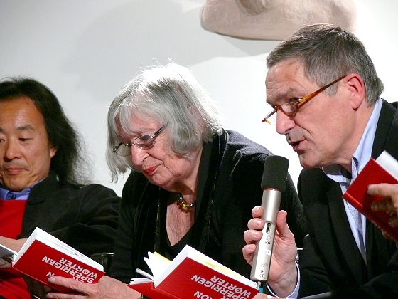 Yang Lian, Nora Iuga, Pauls Bankovskis, Paola Balzarro: Sperrige Wörter – In fremden Sprachen <br/>(c) Heiner Wittmann