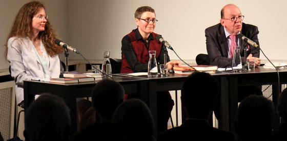 Angela Steidele, Denis Scheck, Sandra Richter: Erotika, Dienstag, 17.04.18               /                   20.00              Uhr <br/>(c) Heiner Wittmann